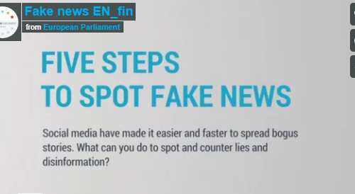 #Crowdsearcher TOOL: 5 steps to spot #fakenews by @Europarl_EN