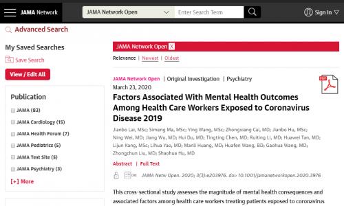 #DirectoryCovid19: JAMA Network Open