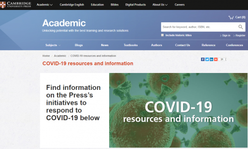 #DirectoryCovid19: Cambridge University Press