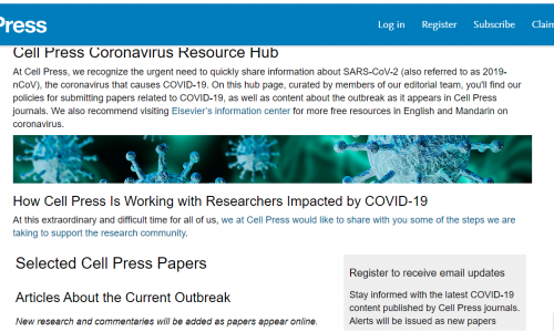 #DirectoryCovid19: Cell Press Coronavirus Resource Hub